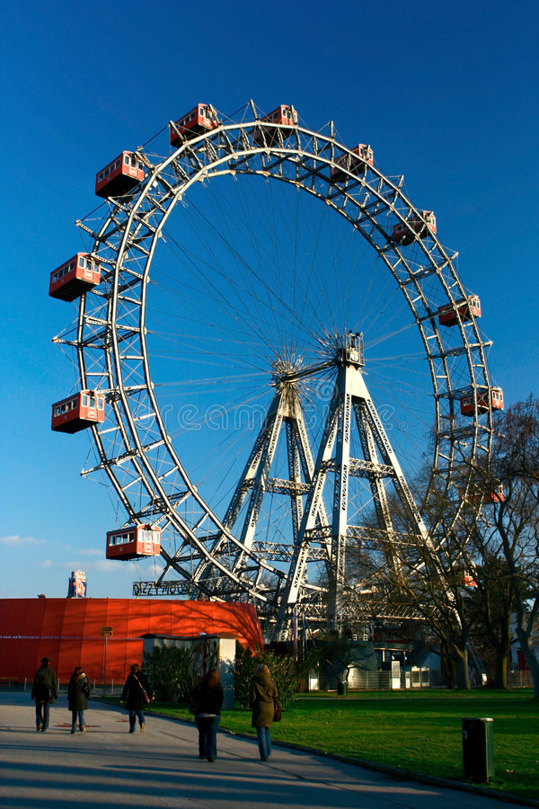 ferris巨型riese轮子 免版税图库摄影