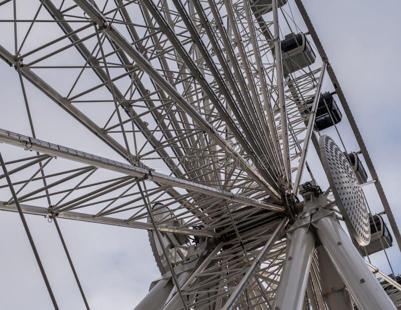Λεπτομέρεια ροδών Ferris στοκ εικόνες
