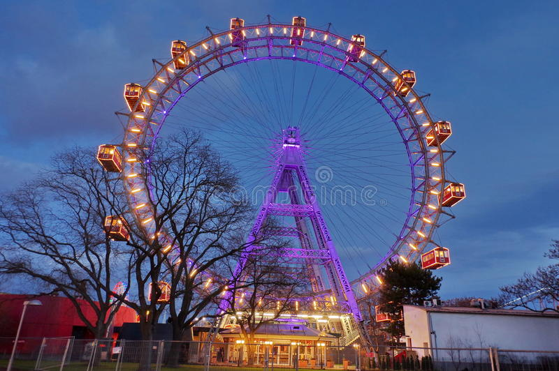 Ferris катит внутри Prater стоковое изображение