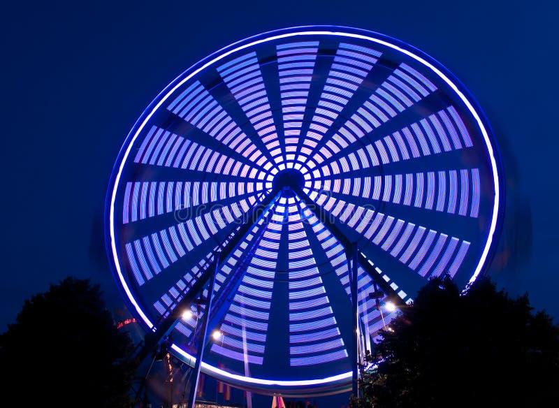 Ferris błękitny Przędzalniany Koło zdjęcia royalty free
