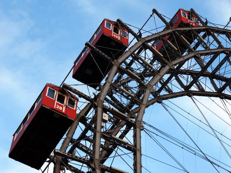Ferris gigante spinge dentro Vienna immagine stock