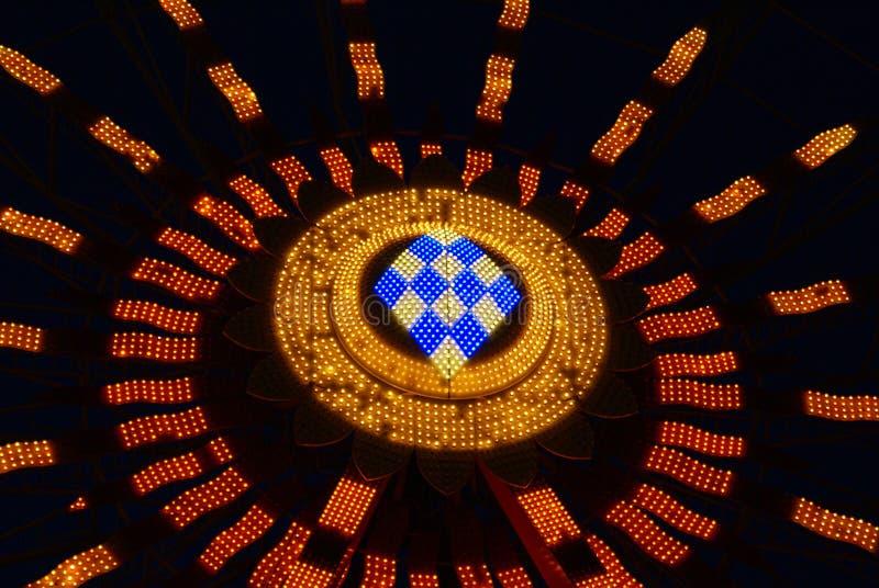 Ferris koła światła Przy nocą fotografia royalty free