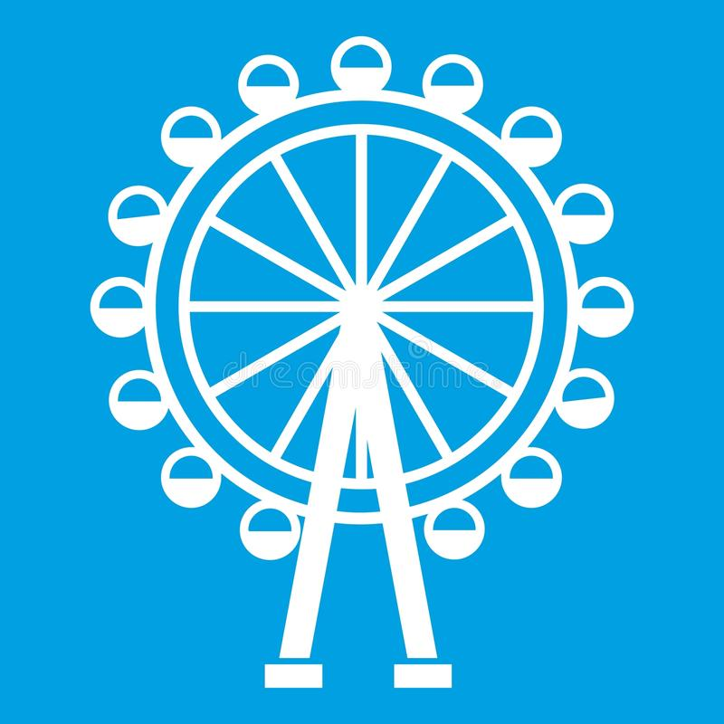 Ferris koła ikony biel royalty ilustracja
