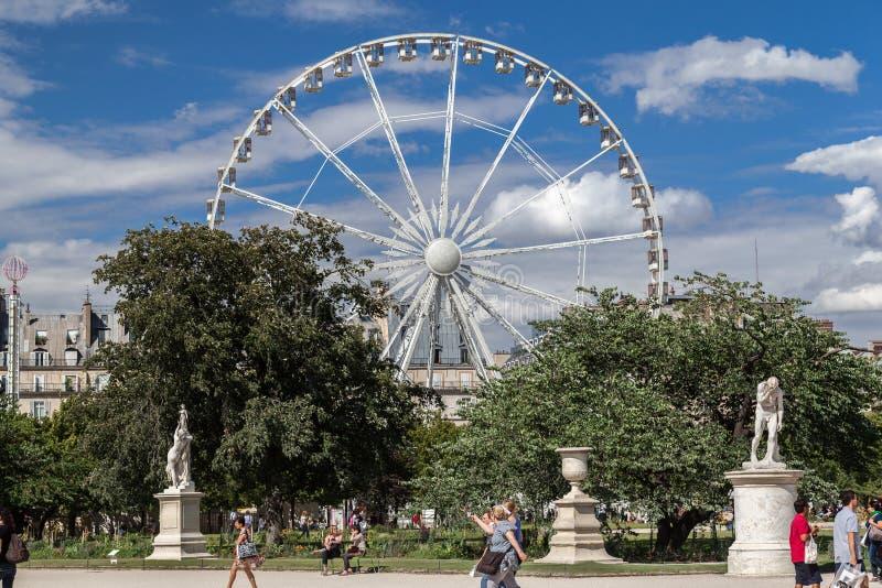 Ferris koła Tuileries ogród Paryż Francja fotografia stock