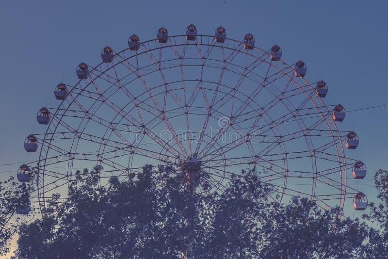 Ferris koło 2 i drzewa obraz royalty free