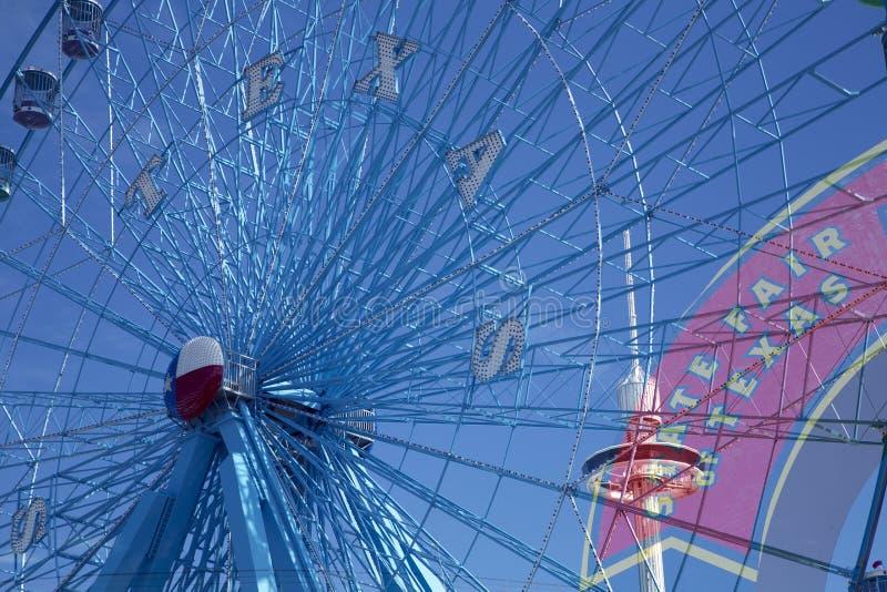 Ferris koło i stanu jarmark Teksas podpisujemy zdjęcia stock