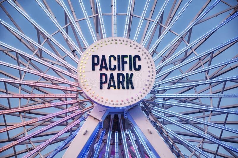 Ferris koło na Snata Monica molu zdjęcie royalty free