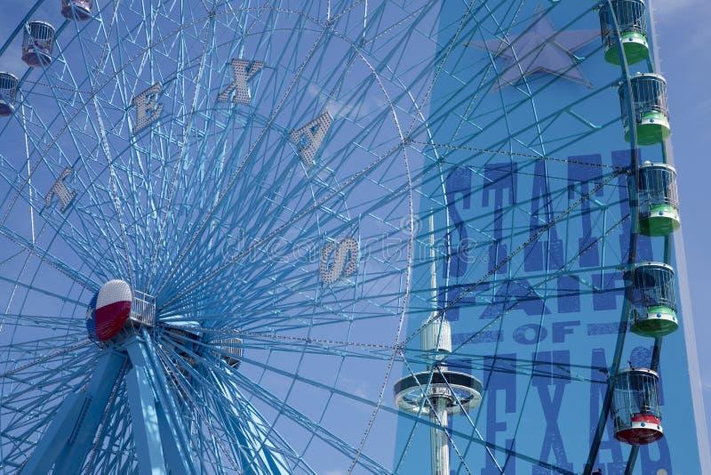 Ferris koło na stanu jarmarku Teksas zdjęcie royalty free