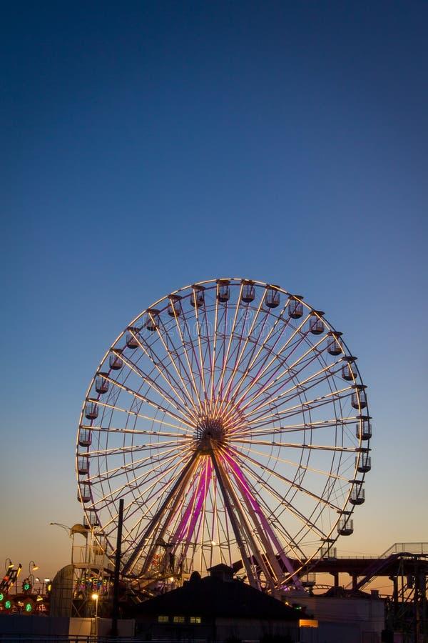Ferris koło, oceanu miasto, NJ fotografia royalty free