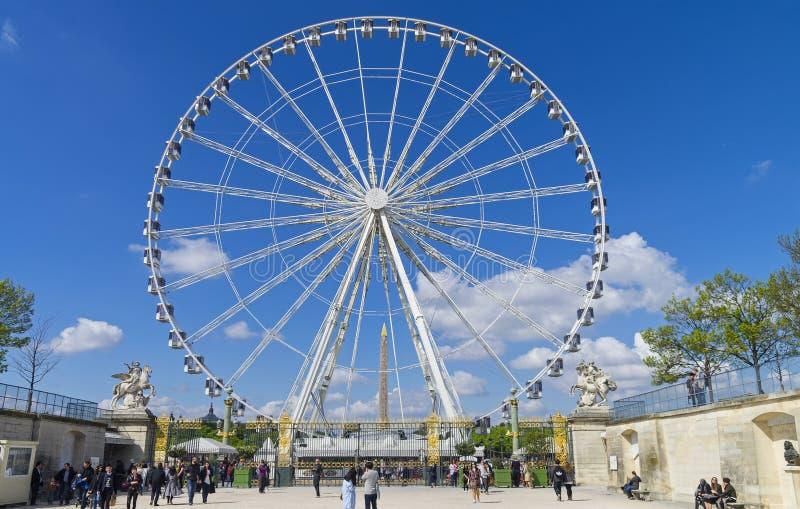 Ferris koło przy miejscem De Los angeles Concorde w Paryż fotografia stock