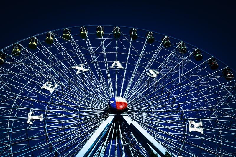 Ferris koło Przy stanu jarmarkiem Teksas fotografia stock