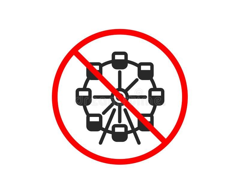 Ferris ko?a ikona Parka rozrywki znak wektor ilustracja wektor