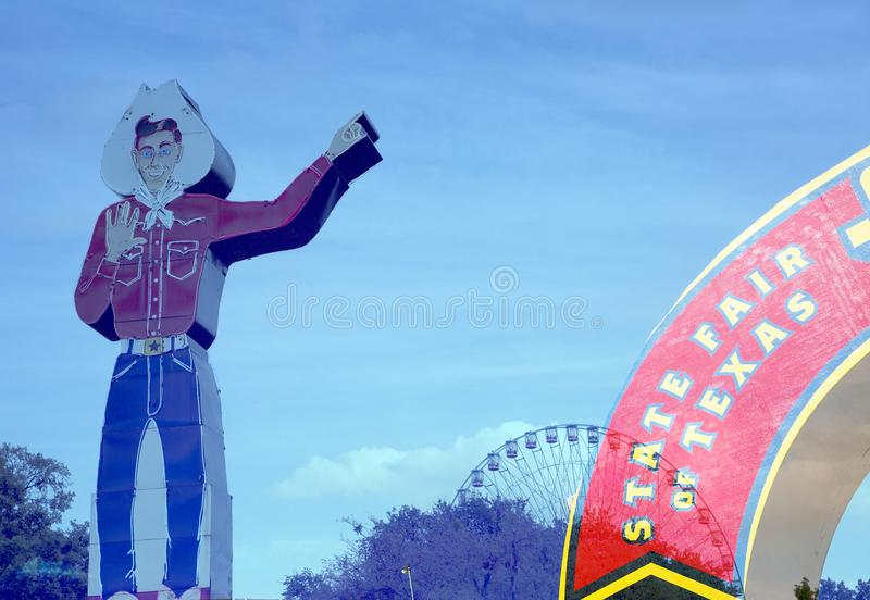 Ferris kowboj i koło modelujemy na stanu jarmarku Teksas fotografia stock