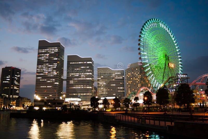 ferris nadmorski koło Yokohama zdjęcia royalty free