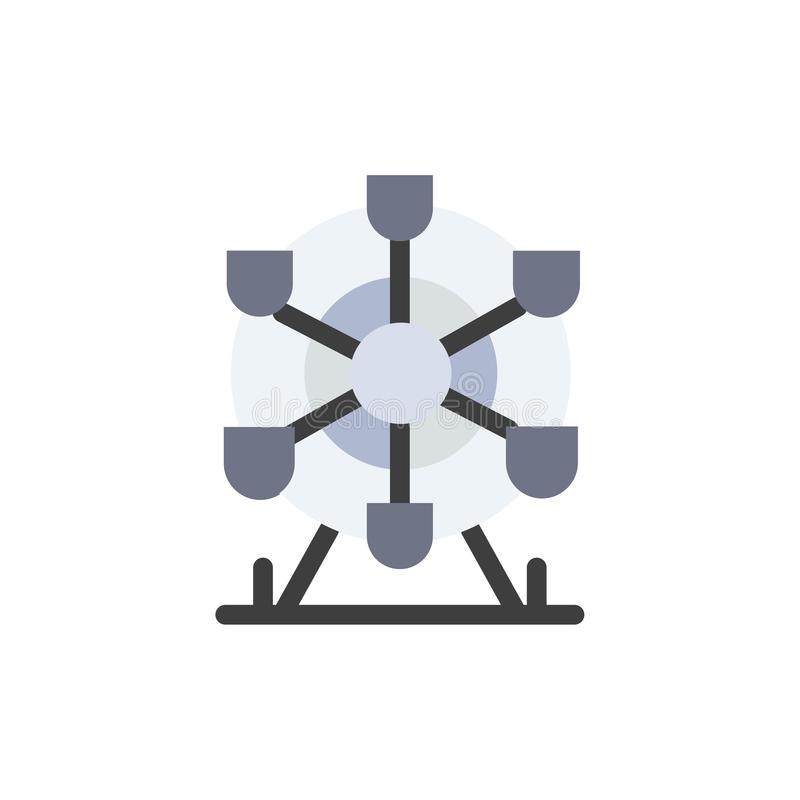 Ferris, parc, roue, icône plate de couleur du Canada Calibre de bannière d'icône de vecteur illustration stock