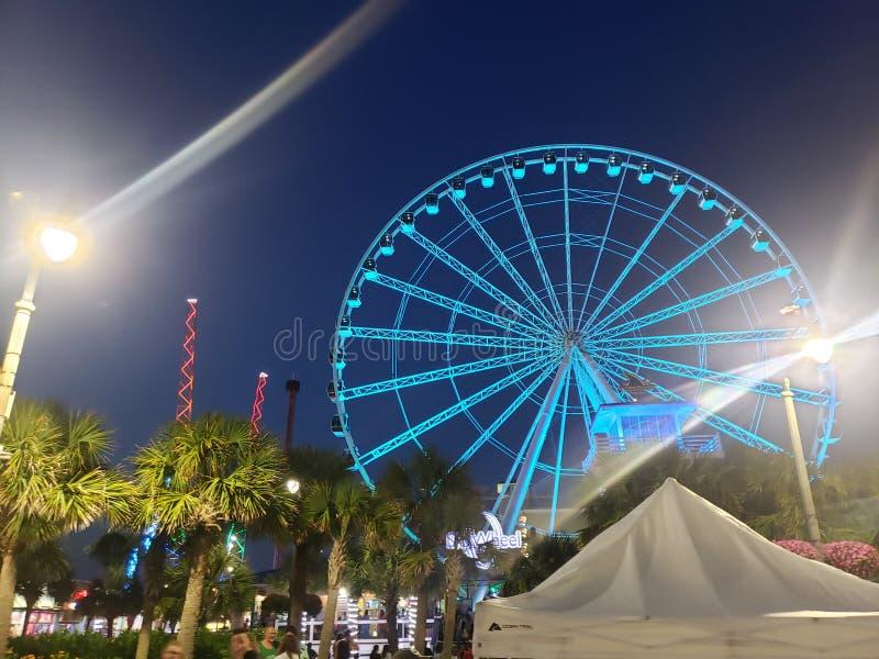 Ferris roda dentro Myrtle Beach fotografia de stock