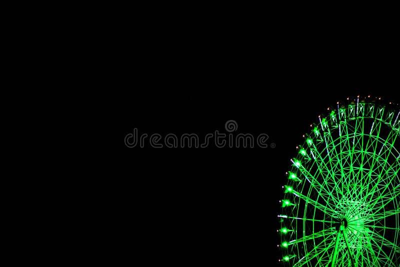 Ferris roda dentro a noite fotos de stock