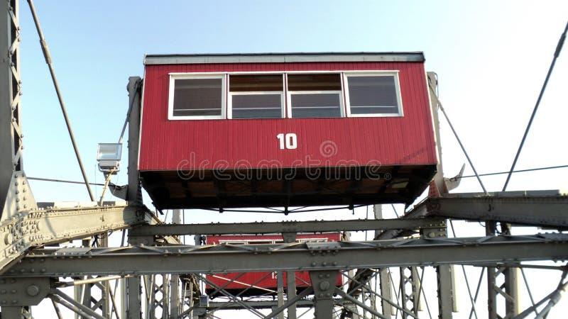 Ferris roda dentro o parque de diversões de Prater em Viena fotografia de stock royalty free