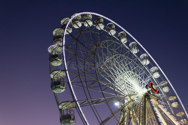 Ferris sheel in Agadir - Marokko stock fotografie