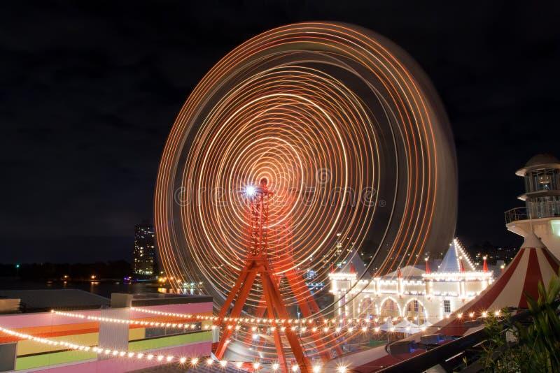 Ferris toczy wewnątrz Luna Parkowy Sydney, Australia zdjęcia stock