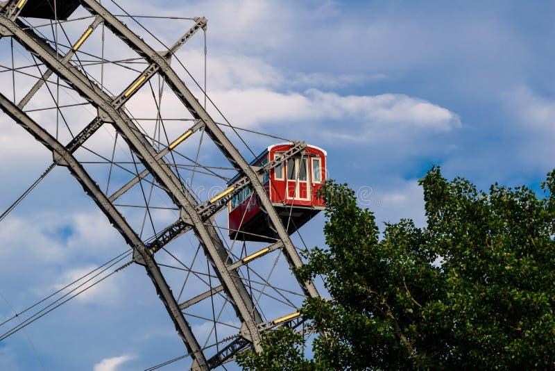 Ferris toczy wewnątrz plociucha, Wiedeń zdjęcie royalty free