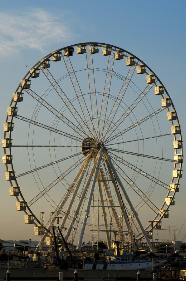 Ferris toczy wewnątrz Rimini zdjęcie royalty free