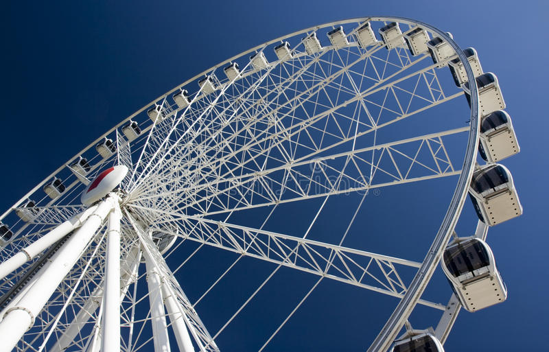 Ferris wheel. Gondolas and ferris wheel in Brisbane, Australia royalty free stock image