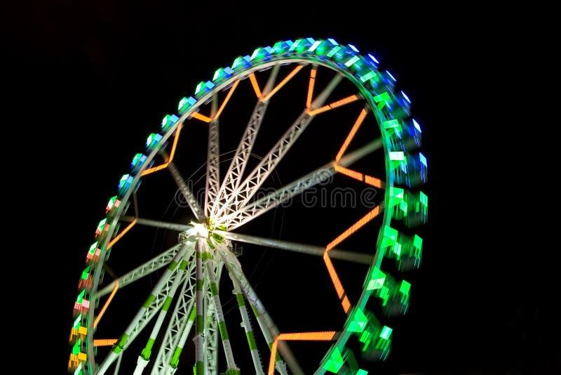 Ferris Wheel. A big colorful ferris wheel at night stock image