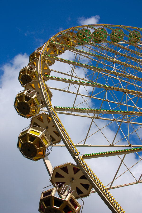 Ferris wheel. On a county fair royalty free stock photography