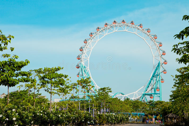 Download Ferris wheel stock photo. Image of outdoor, blue, exciting - 14862212