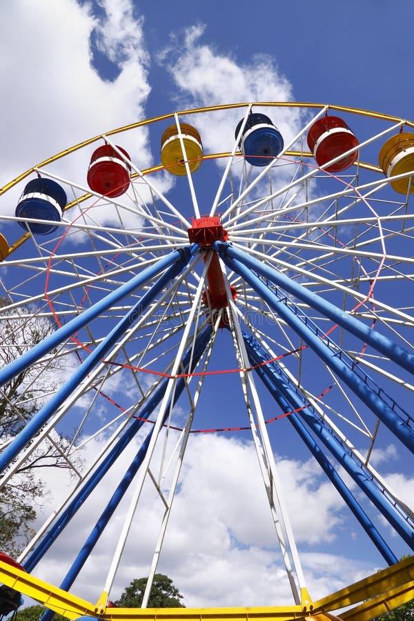 Ferris wheel. At a funfair fairground stock images