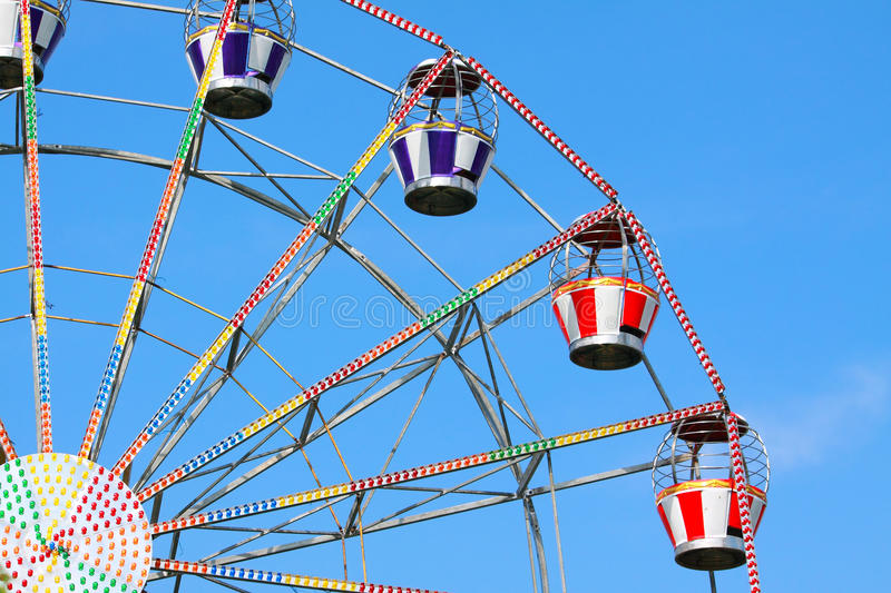 Ferris Wheel. Colorful Ferris Wheel And The Blue Sky royalty free stock image