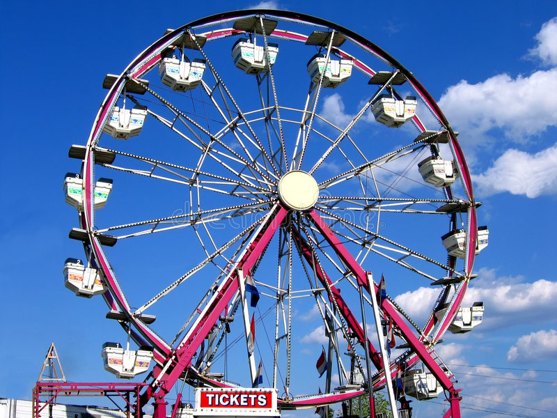 Ferris Wheel. At the county fair royalty free stock photos