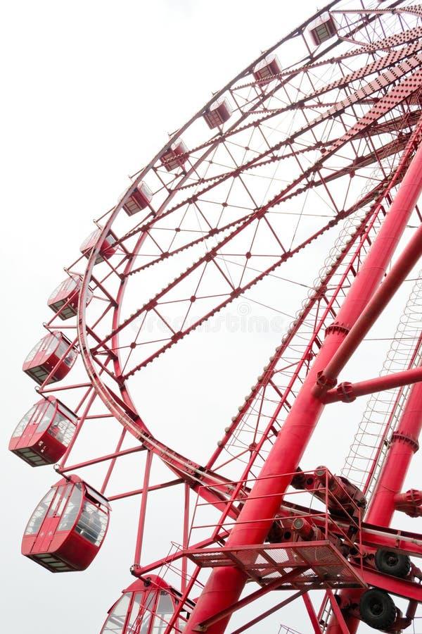 Ferris wheel. High red Ferris wheel in chengdu,china royalty free stock images