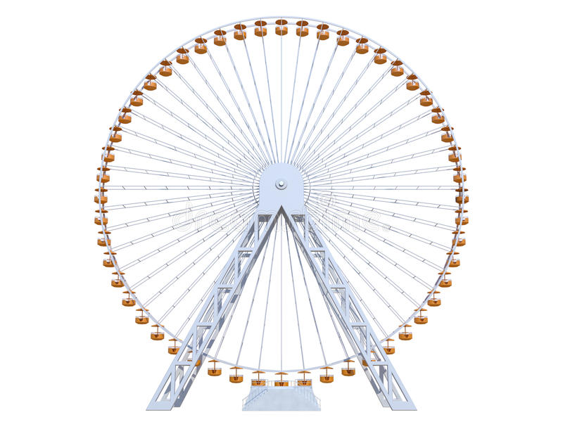 Ferris Wheel royalty free illustration