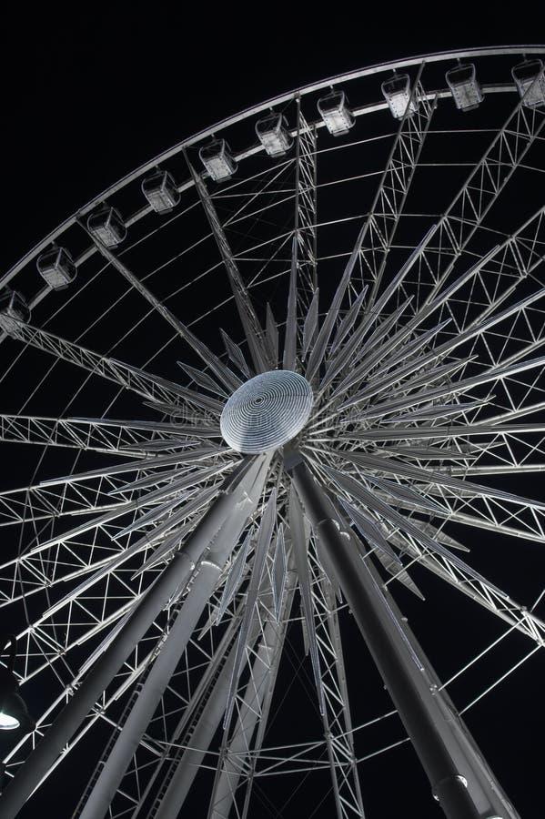 Ferris wheel. Large white ferris wheel ride royalty free stock photos