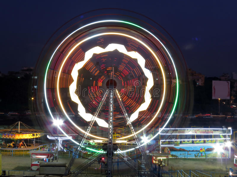 Download Ferris Wheel stock photo. Image of colors, nighttime - 27677386