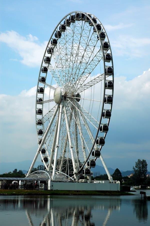 Ferris wheel. Largest moblie ferris wheel in the world stock photo