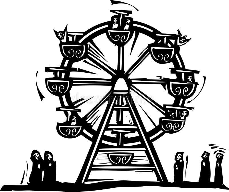 Ferris Wheel ilustración del vector