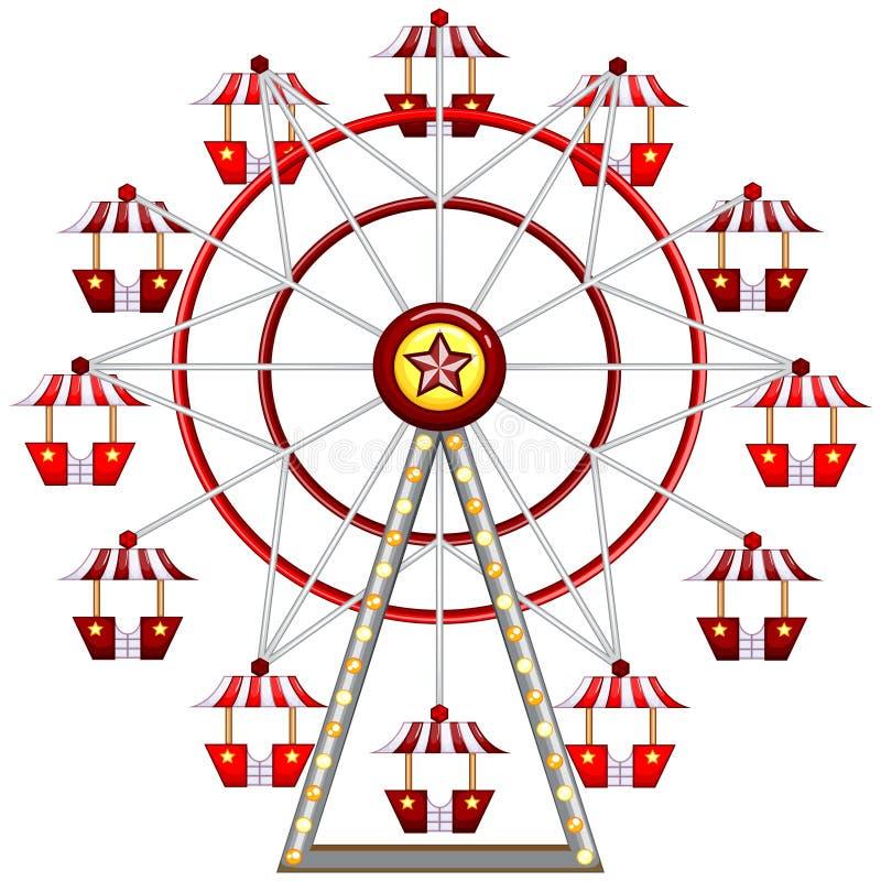 Ferris Wheel illustration stock