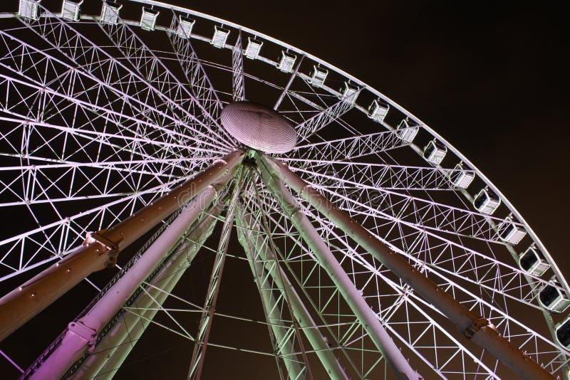Ferris wheel in the dark stock photography