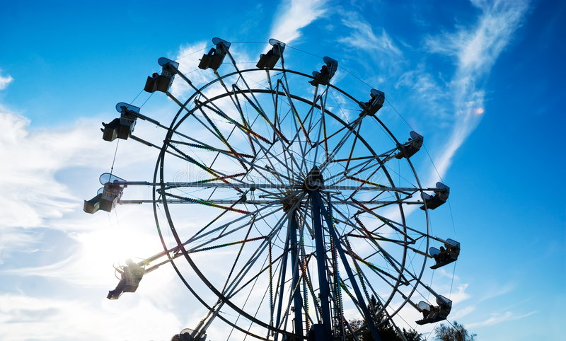 Ferris Wheel. At the county fair stock images
