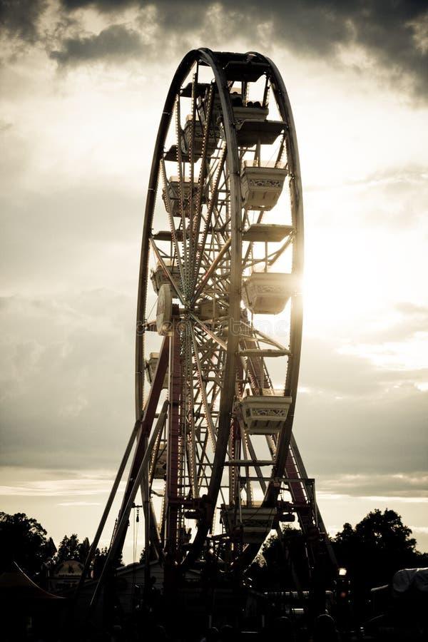 Ferris wheel. At state fair royalty free stock photo