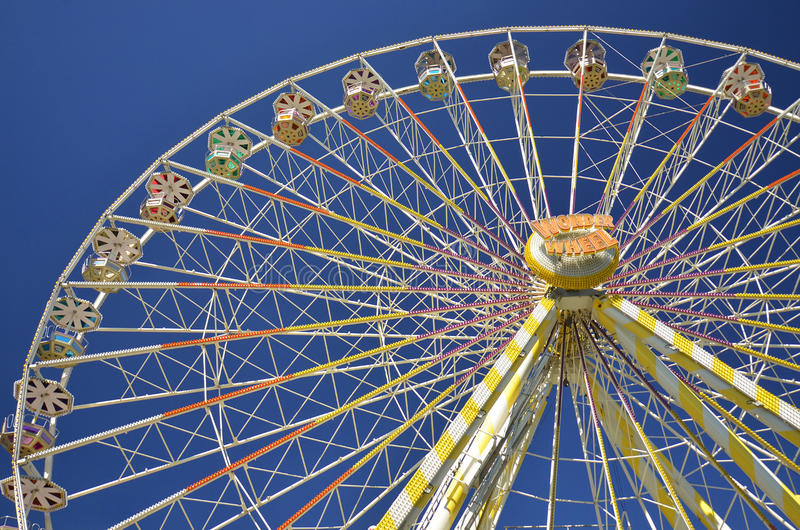 Download Ferris Wheel Against Blue Sky Editorial Photography - Image of ferris, exciting: 26476622