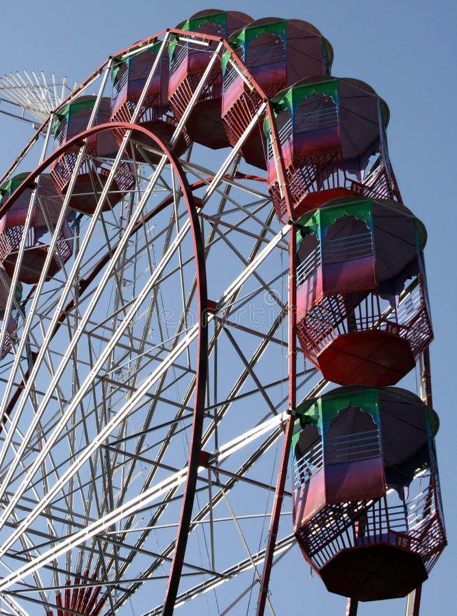 Ferris wheel. Against blue sky royalty free stock photo