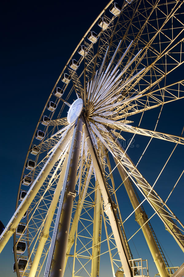 Ferris wheel at Albert Dock stock photos