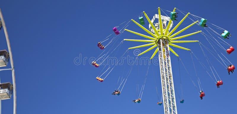 Ferris wheel in Amsterdam stock photo