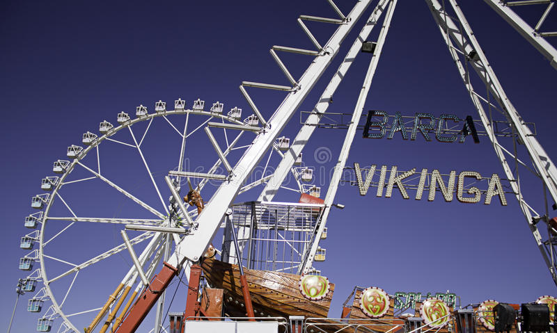 Ferris Wheel In Amusement Park Royalty Free Stock Images