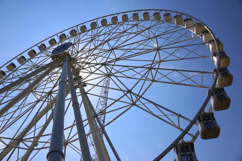 Ferris wheel. Wheel in amusement park stock photography