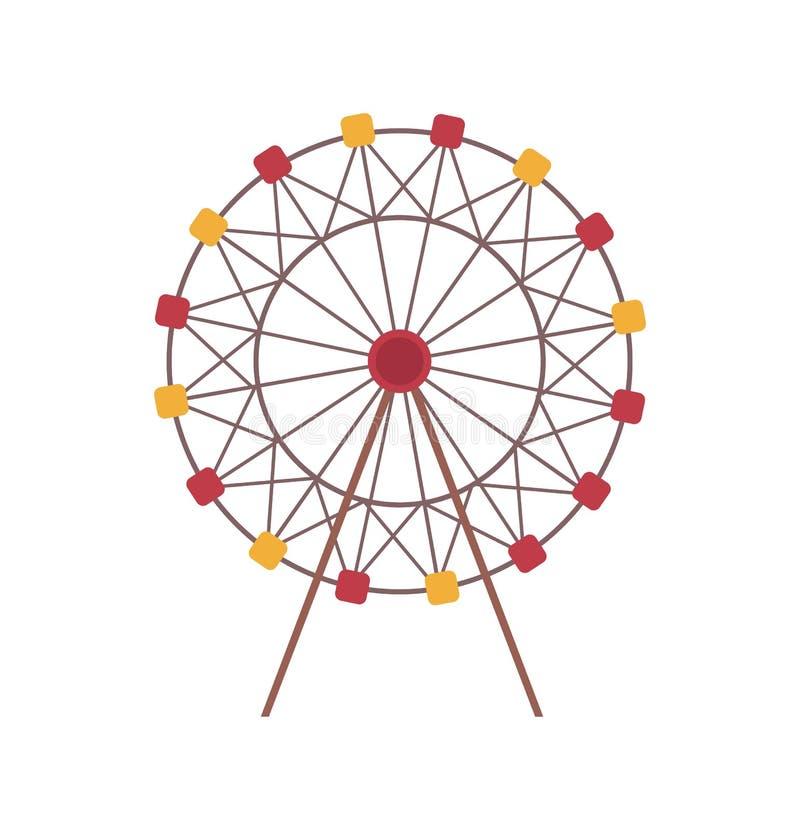 Ferris Wheel Amusement Park Attraction aisló libre illustration